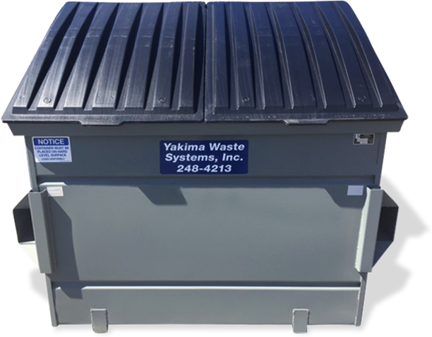 Front Load Trash and Recycling Bins